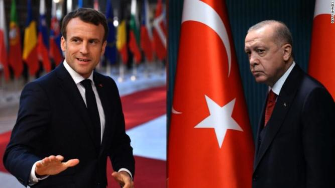 macron and erdogan